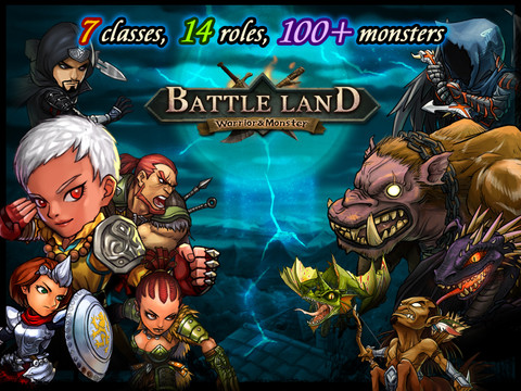 [限時免費]BattleLand:Warrior vs Monster HD 超好玩的iPad另類RPG遊戲
