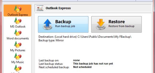 電腦備份還原軟體  FBackup