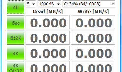 硬碟測試軟體工具 CrystalDiskMark