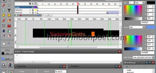 免費flash製作軟體下載 Vectorian Giotto 3.0