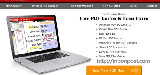 PDFescape - pdf線上編輯服務 刪除頁面、轉向、加註文字一手包辦