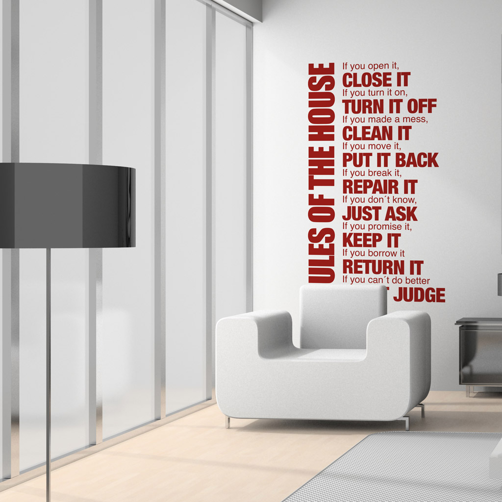 House Rules Sticker Moonwallstickers Com