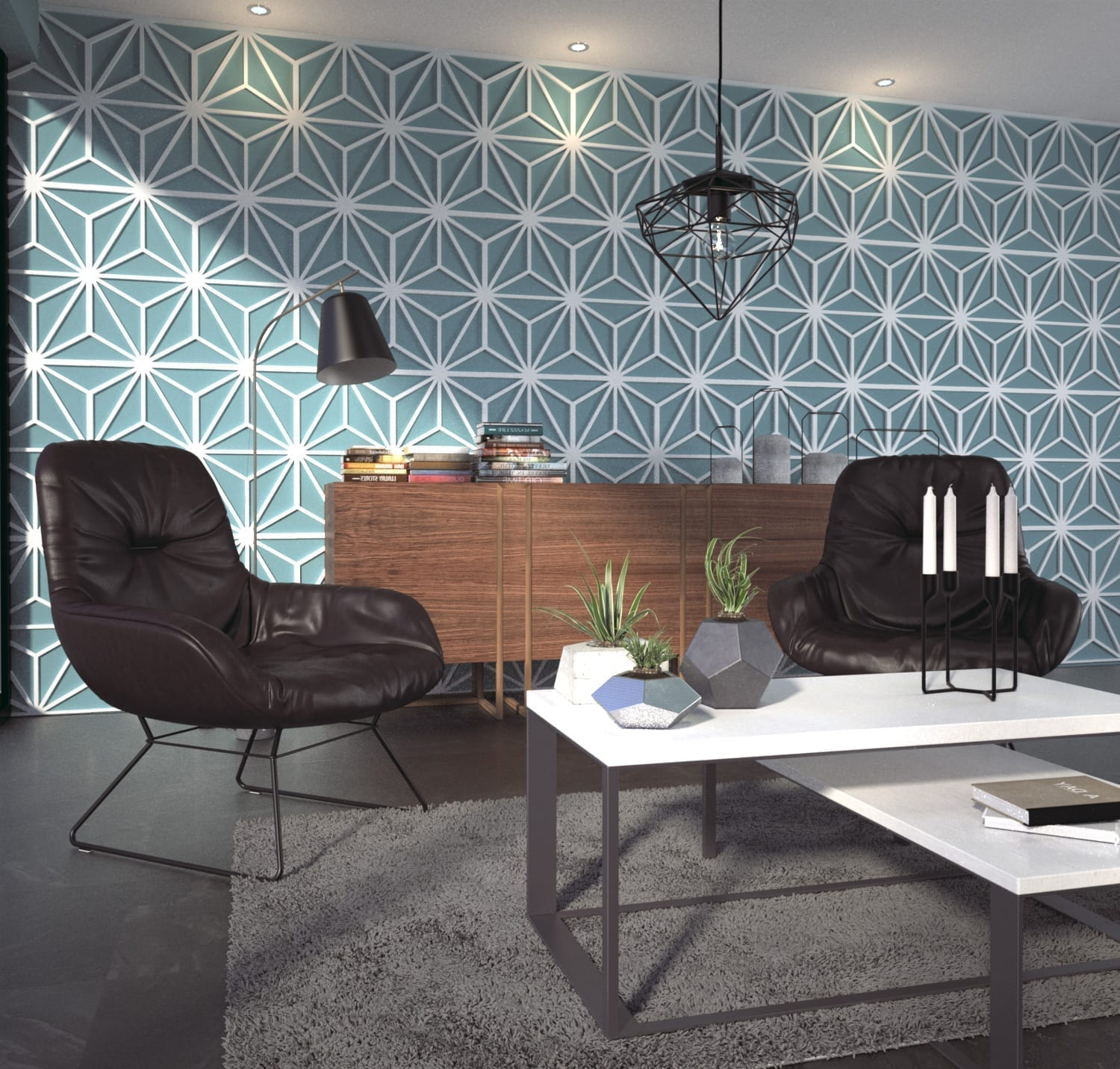 3d Wall Panels Mid Century Moonwallstickers Com - 3d Wall