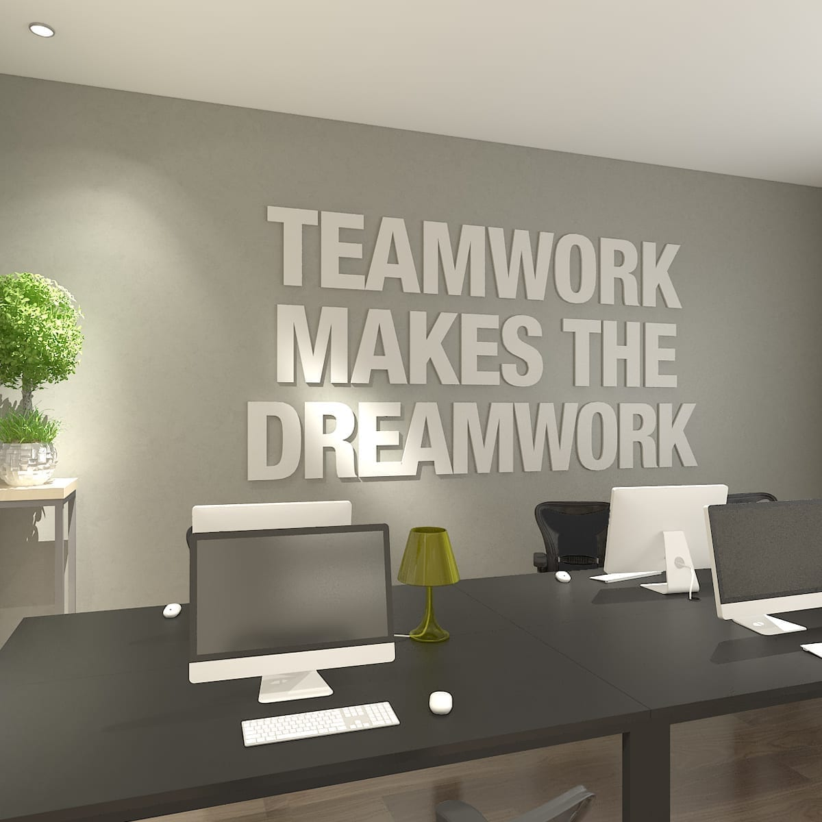 Büro Dekorieren Teamwork Makes The Dreamwork 3d Büro Dekoration
