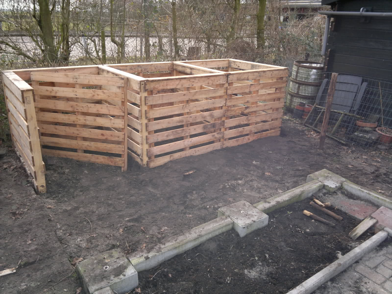 Compostbak Hout Composthoop Moormannen