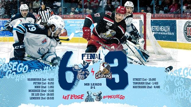 Game 3 Recap Moose 6 at Grand Rapids 3 - Manitoba Moose