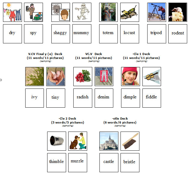 MV8 Match It Vocabulary - Final Y, VCV, VCV, Cle MV8 - $2200