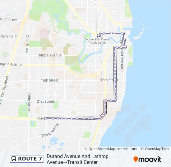 ROUTE 7 Route Time Schedules, Stops  Maps - Durand Avenue Walmart