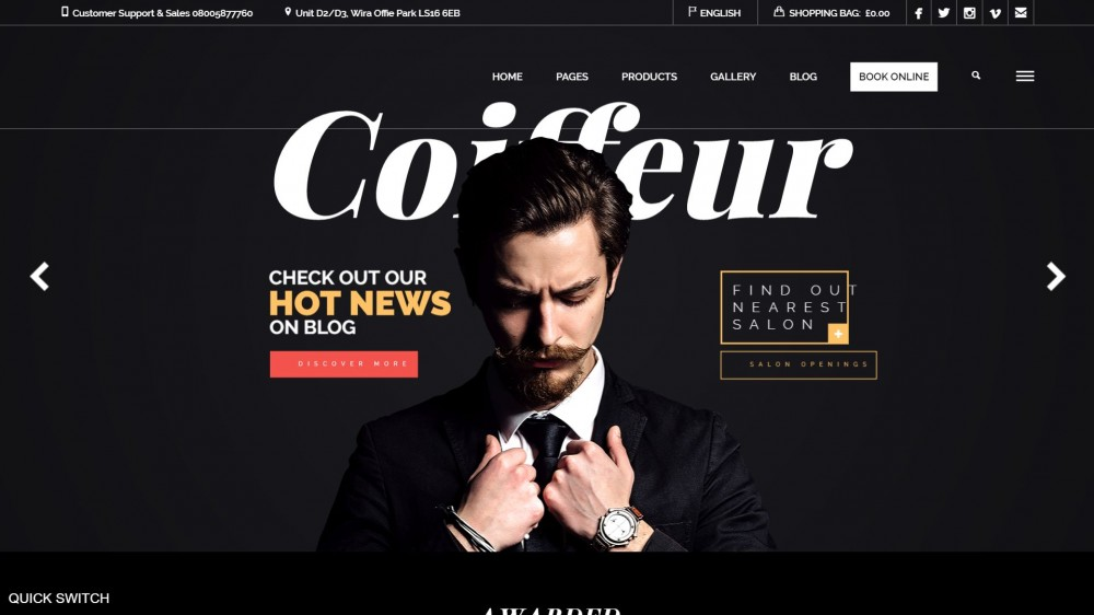 25+ The Most Stylish Barber Shop WordPress Themes