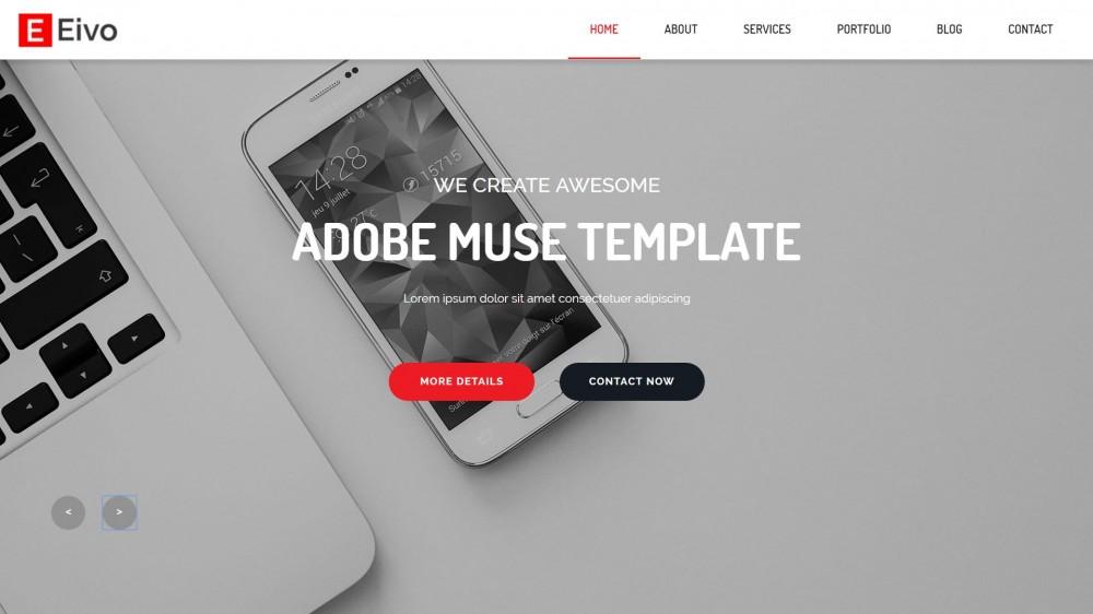 25+ Best Creative Business Portfolio Adobe Muse Templates