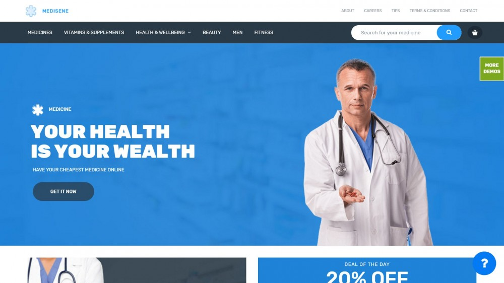 20+ Useful Drug Shops, Medical Stores  Pharmacy WordPress Themes