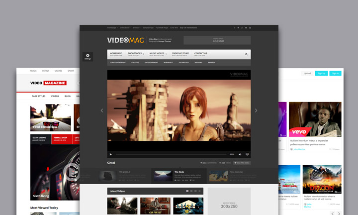 Best HTML Templates for Video Tube, Video Sharing and Video Portals