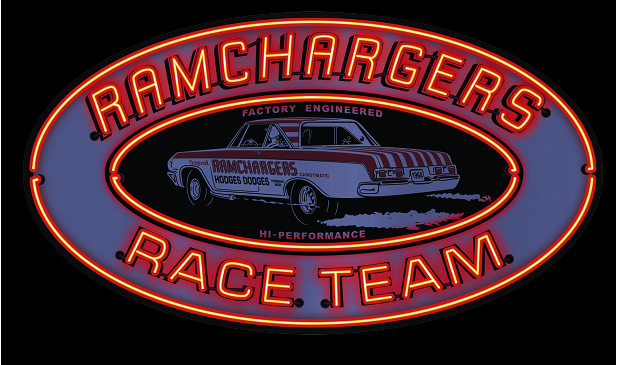 Garage Art Neon Signs Merch Garage Art Ramchargers Metal Garage Art Sign