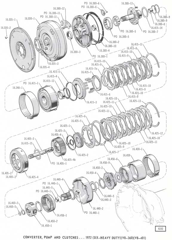 dodge 727 transmission diagram