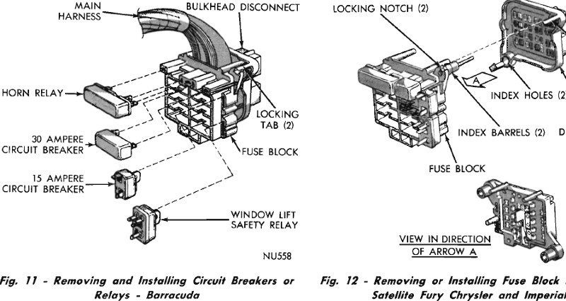 1966 Barracuda Dash Wiring Diagram Schematic