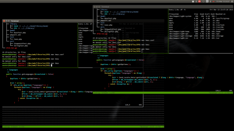 You can have the same tmux session in multiple terminals. Very useful for pair programming or mentoring.