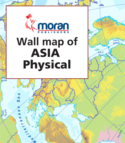 Moran Wall Map of Uganda Physical Features Moran Publishers