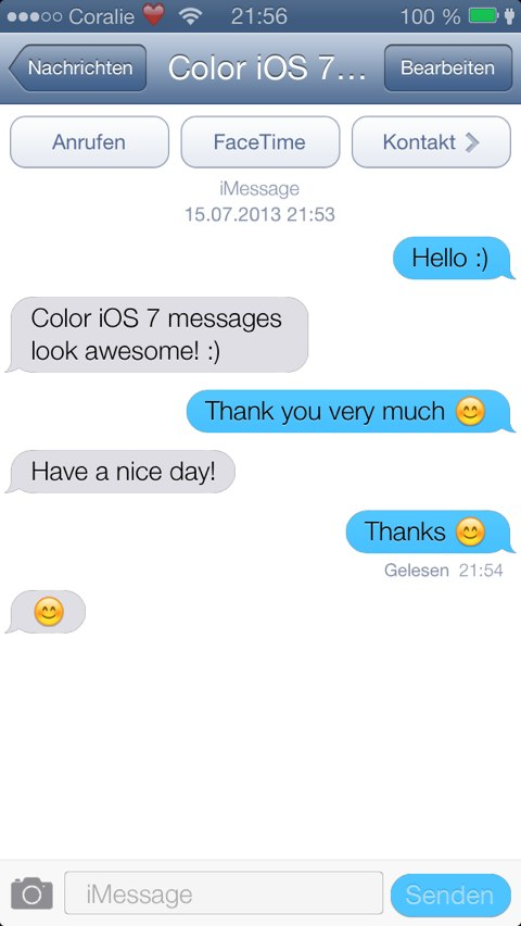 Color Messages iOS 7 Themes · Cydia