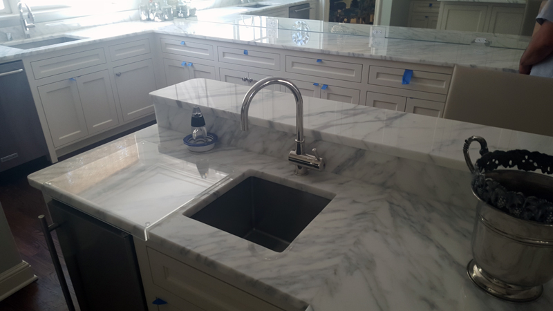 Travertine Countertops Add White Carrera Marble Countertops To Your Kitchen