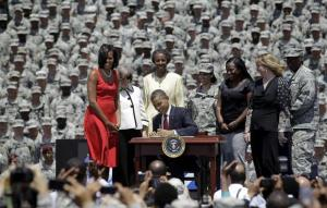 President Obama signs G.I. Bill Protection Order
