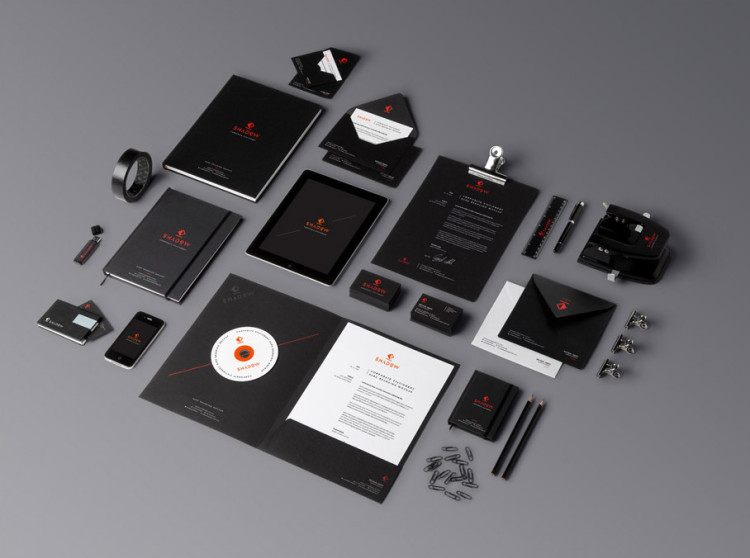 Black branding stationery mock-up #10 -