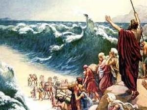 חציית הים בידי ישראל ומשה