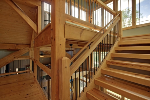 Timber Stairs Handrails Interior And Exterior Custom