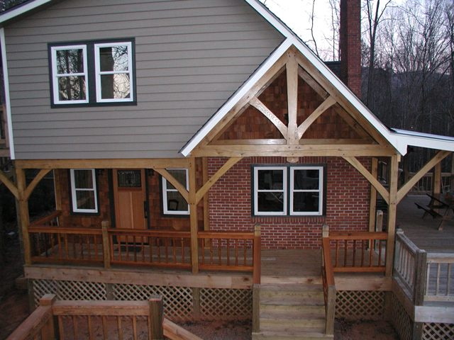Front Porch Railing Timber Frame Porch, Deck & Entrance Projects Built By Moresun