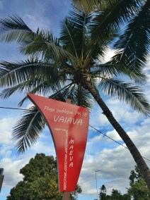 PK18 Vaiava Beach Sign