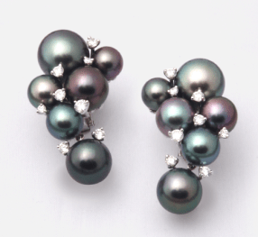 Robert Wan Multi Pearl Earrings