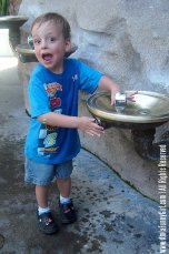 So glad we came all this way to play in a drinking fountain! :)