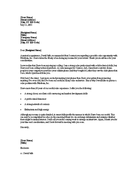 Doc Sample Cover Letter For Sales Position Best Sales - Sales cover letter