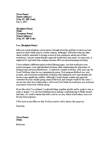 Business Proposal Letter Template Free Download – Free Proposal Letter Template