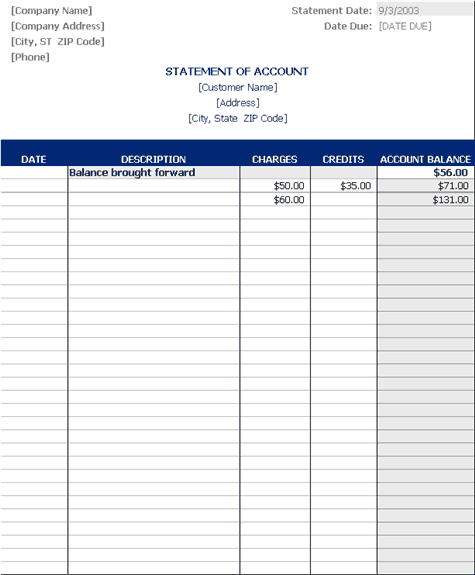 free invoice template office 2003 – neverage, Invoice examples