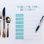 Weekly Meal Plan Printable