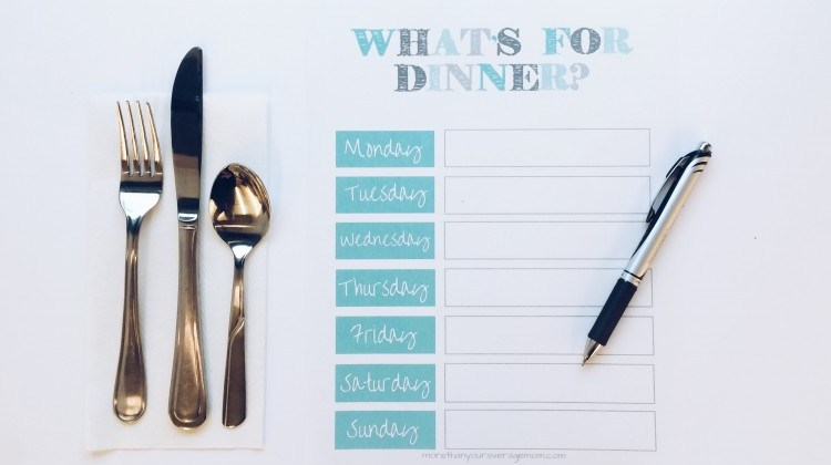 Meal Plan Monday – What we're eating this week