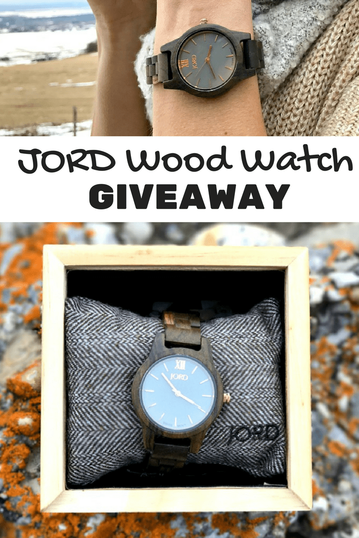 Enter to win this awesome Jord Wood Watch giveaway!