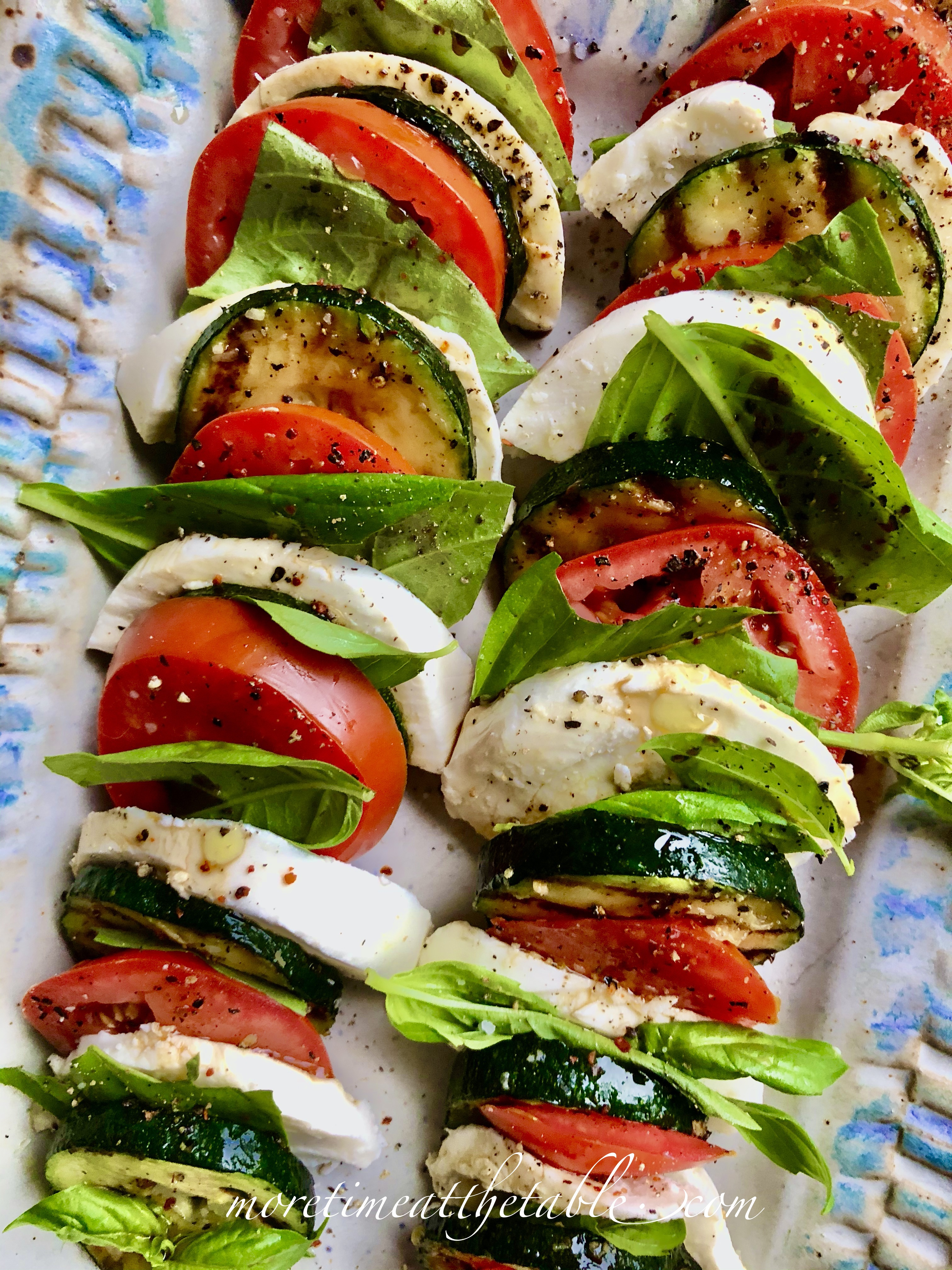 Grilled Zucchini Caprese More Time At The Table