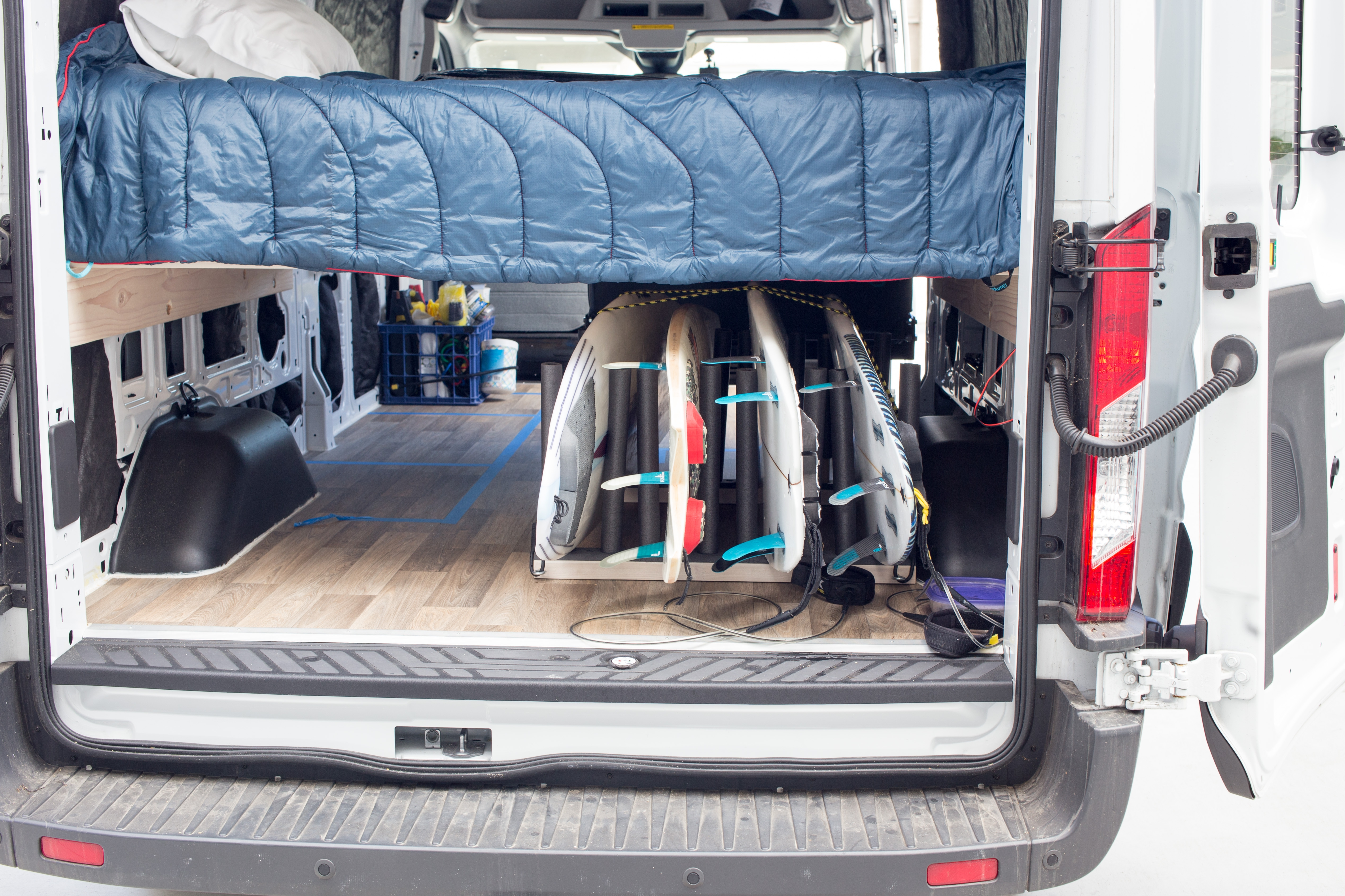 Build A Surfboard Rack For Your Van Morey39s In Transit