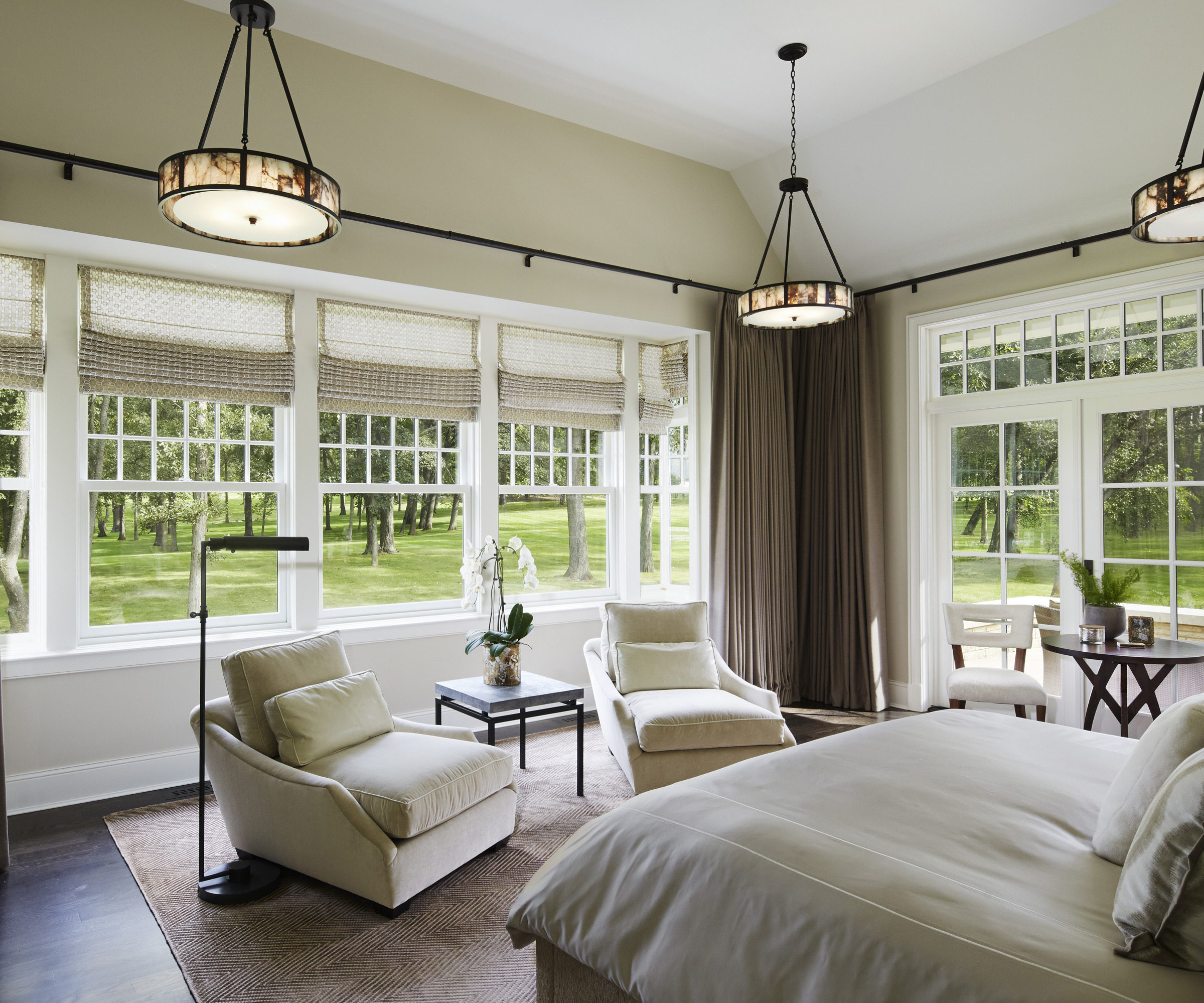 Master Bedroom Lounge Chair Morgante Wilson Rambling Shingle Style Interiors