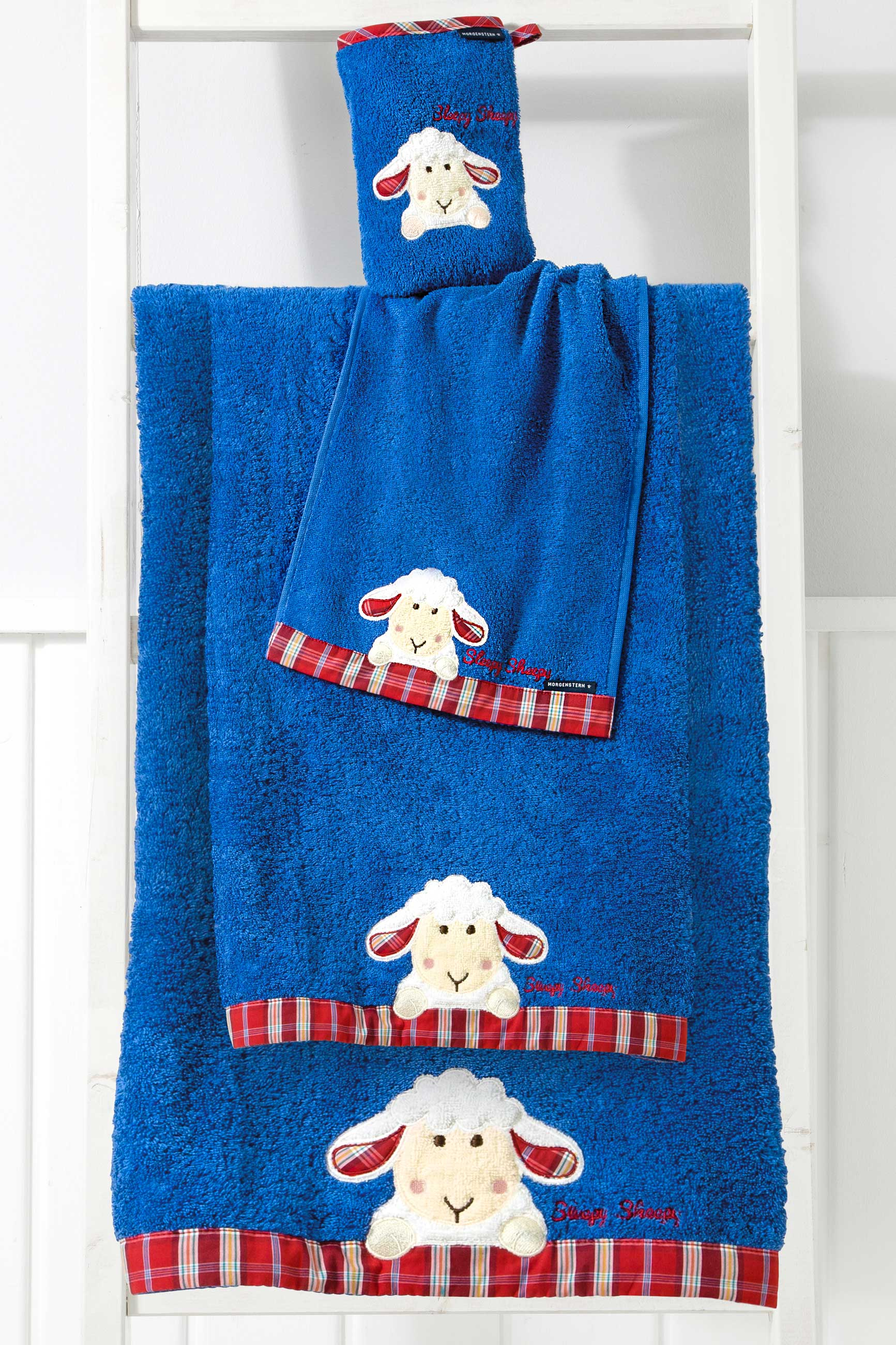 Kinder Handtuch Sleepy Sheepy Kinder Handtuch Serie Blau Morgenstern