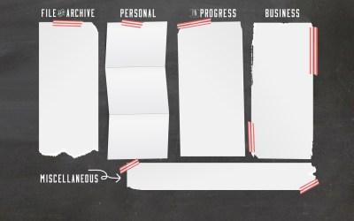 Chalkboard Computer Desktop Wallpaper Organizer   Free Download