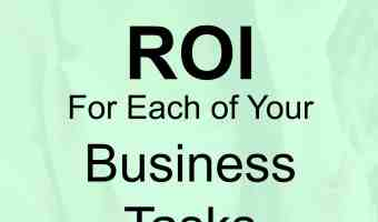 ROI for each of your business tasks and a twitter hour update