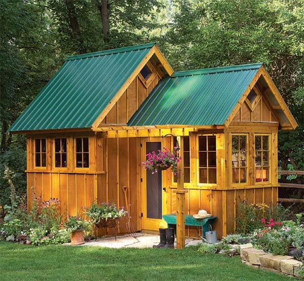 108 diy shed plans with detailed step by step tutorials free for Garden building plans