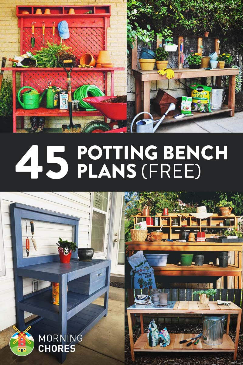 Planting Tables For Sale 45 Diy Potting Bench Plans That Will Make Planting Easier Free