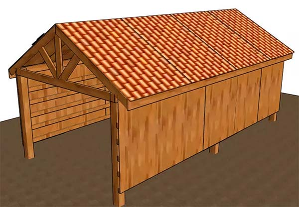 153 pole barn plans and designs that you can actually build for Open barn plans