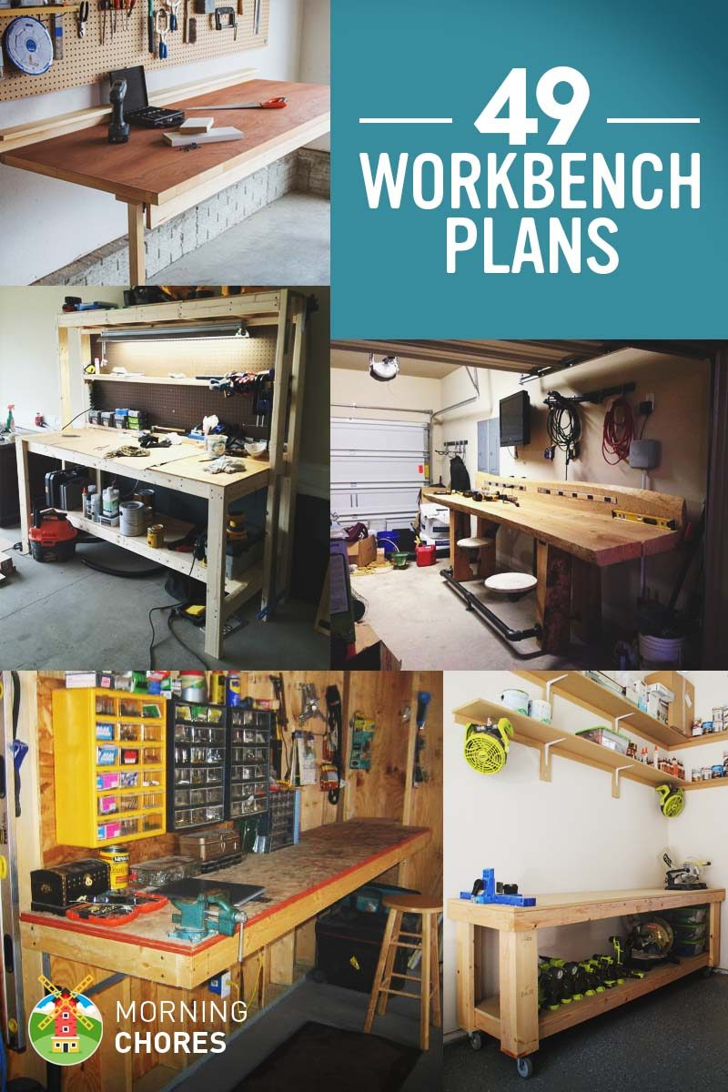 Diy Workbench With Wheels 49 Free Diy Workbench Plans Ideas To Kickstart Your Woodworking