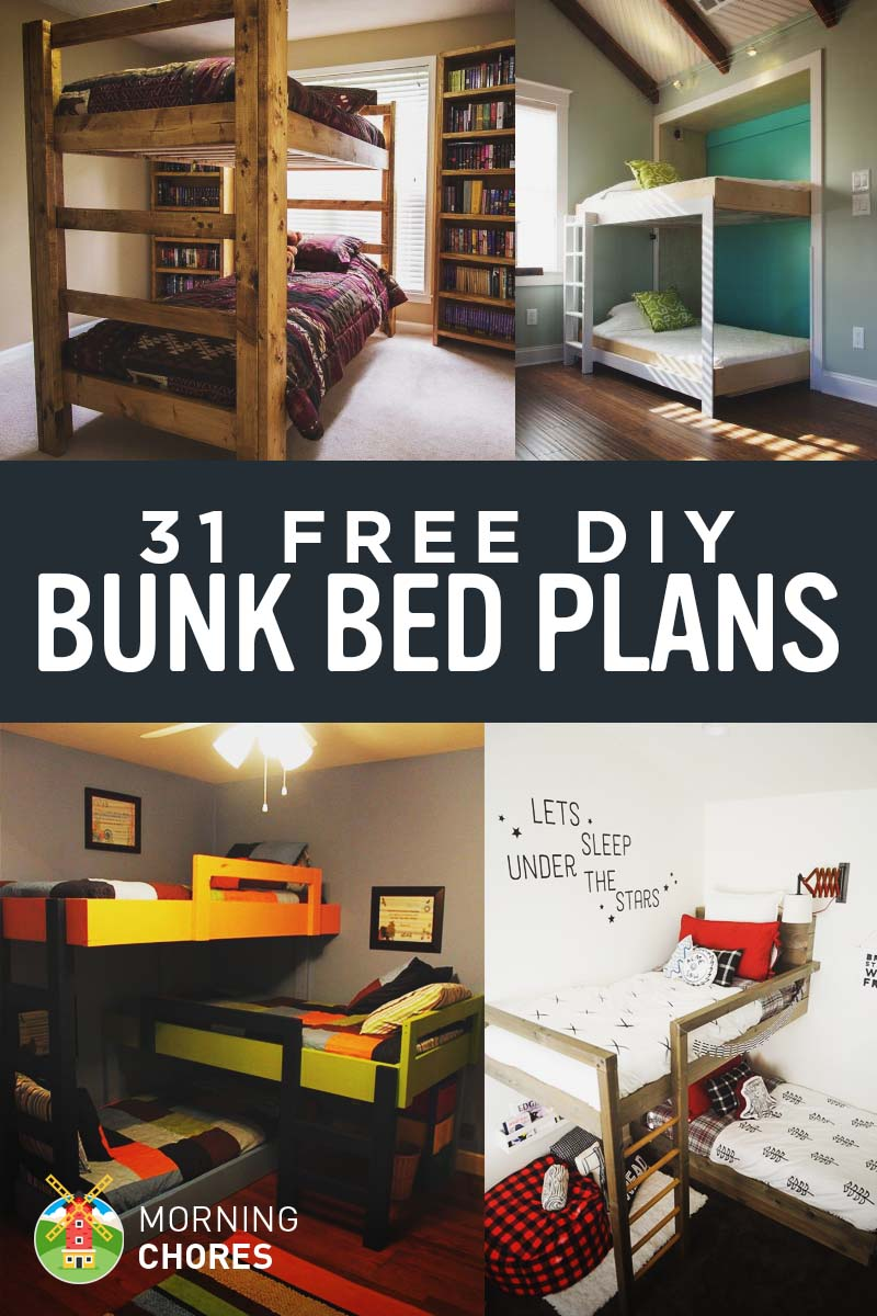 Childrens Beds With Pull Out Bed Underneath 31 Diy Bunk Bed Plans Ideas That Will Save A Lot Of Bedroom Space