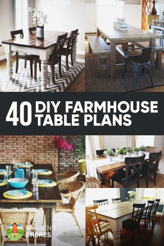 40 Free DIY Farmhouse Table Plans and Ideas for Your Dining Room