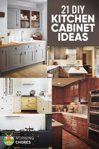 21 DIY Kitchen Cabinets Ideas & Plans That Are Easy ...